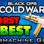 Black Ops Cold War WORST to BEST – Submachine Guns! (COD BOCW Multiplayer)